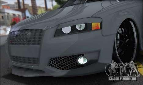 Audi S3 2006 Custom para GTA San Andreas traseira esquerda vista