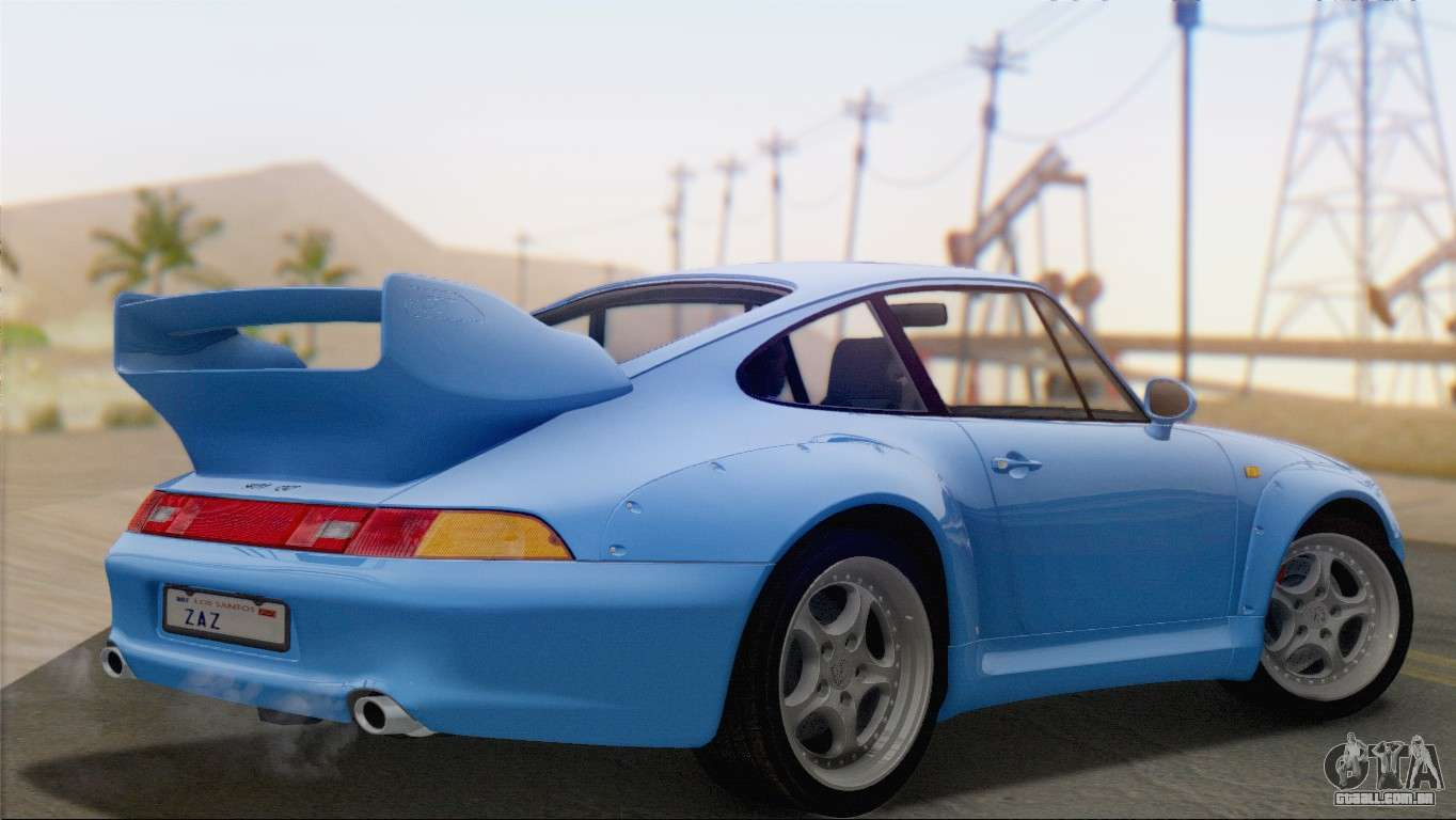 porsche 911 gt2 993 1995 v1 0 sa plate para gta san andreas. Black Bedroom Furniture Sets. Home Design Ideas
