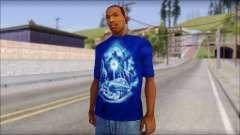 Lowrider Blue T-Shirt para GTA San Andreas