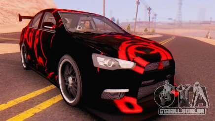 Mitsubishi Lancer EVO X Abstraction para GTA San Andreas