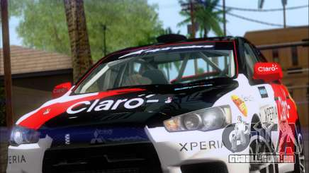 Mitsubushi Lancer Evolution Rally Team Claro para GTA San Andreas