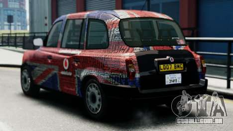 London Taxi Cab v2 para GTA 4 esquerda vista