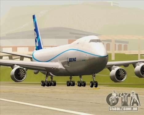 Boeing 747-8 Cargo House Livery para as rodas de GTA San Andreas