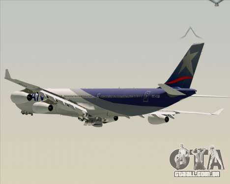 Airbus A340-313 LAN Airlines para as rodas de GTA San Andreas
