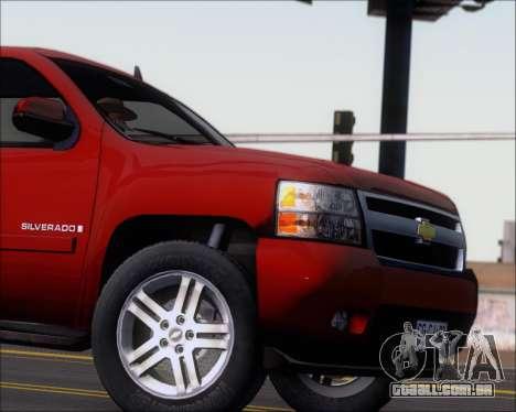 Chevrolet Silverado 2011 para GTA San Andreas vista interior