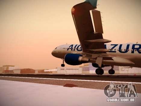 Airbus A320-211 Aigle Azur para GTA San Andreas interior