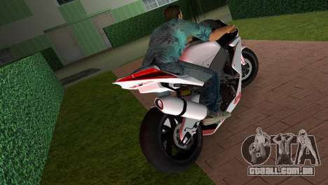 Aprilia RSV4 2009 White Edition I para GTA Vice City vista traseira esquerda
