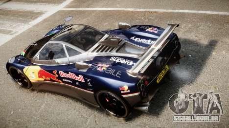 Pagani Zonda Tricolore para GTA 4 vista interior