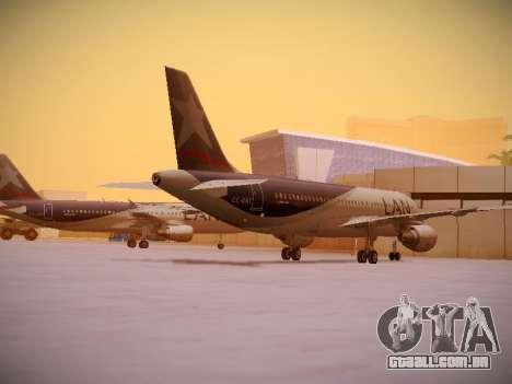 Airbus A320-214 LAN Airlines para GTA San Andreas vista direita