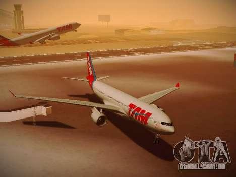Airbus A330-200 TAM Airlines para vista lateral GTA San Andreas