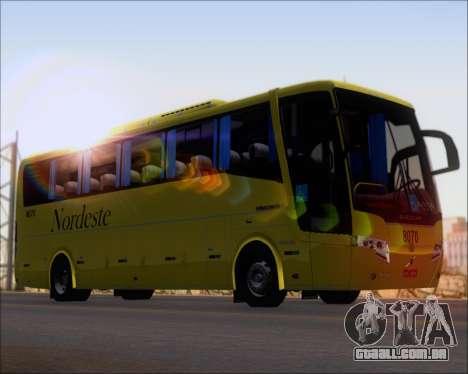 Busscar Elegance 360 Viacao Nordeste 8070 para GTA San Andreas traseira esquerda vista