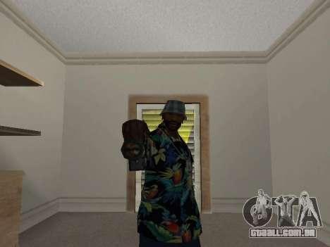 Pose gangster para GTA San Andreas por diante tela
