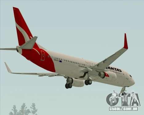 Boeing 737-838 Qantas para GTA San Andreas vista traseira