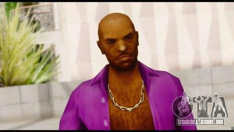 Purple Shirt Vic para GTA San Andreas terceira tela
