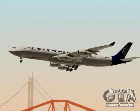 Airbus A340-313 Olympic Airlines para GTA San Andreas vista inferior