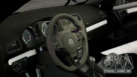Volkswagen Golf R 2010 MTM Paintjob para GTA 4 vista interior
