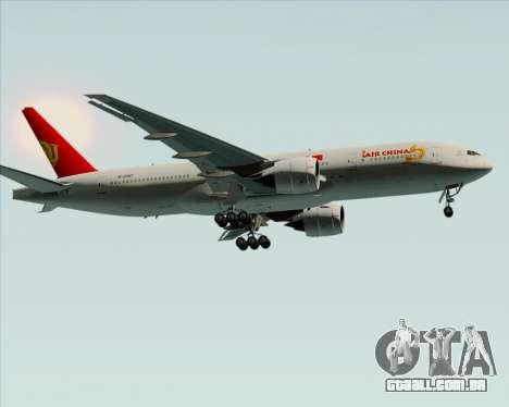 Boeing 777-200ER Air China para GTA San Andreas vista superior