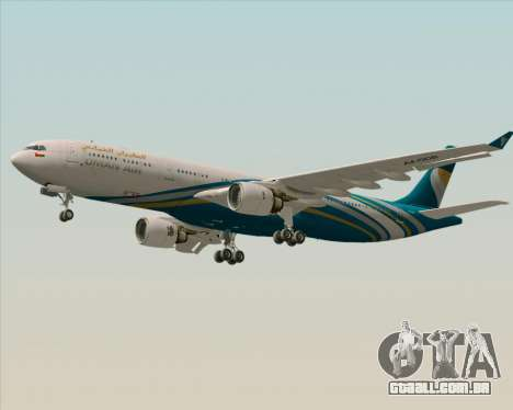 Airbus A330-300 Oman Air para vista lateral GTA San Andreas