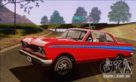 GTA V Blade para GTA San Andreas vista traseira