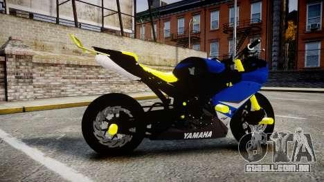 Yamaha R1 2007 Stunt para GTA 4 esquerda vista