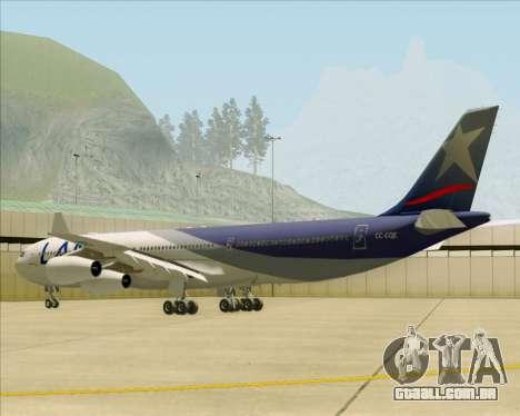 Airbus A340-313 LAN Airlines para GTA San Andreas vista direita