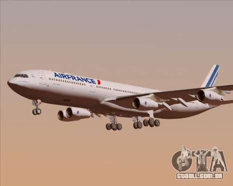 Airbus A340-313 Air France (New Livery) para o motor de GTA San Andreas