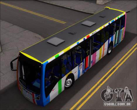 Caio Millennium II Volksbus 17-240 para GTA San Andreas vista traseira
