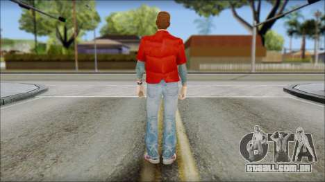 Marty with Vest 1985 para GTA San Andreas segunda tela