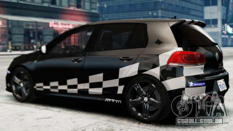 Volkswagen Golf R 2010 MTM Paintjob para GTA 4 esquerda vista