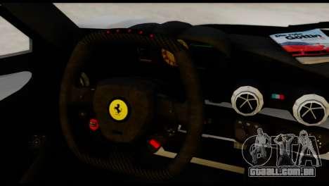 Ferrari LaFerrari 2014 (HQLM) para GTA San Andreas traseira esquerda vista