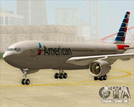 Airbus A330-200 American Airlines para GTA San Andreas traseira esquerda vista