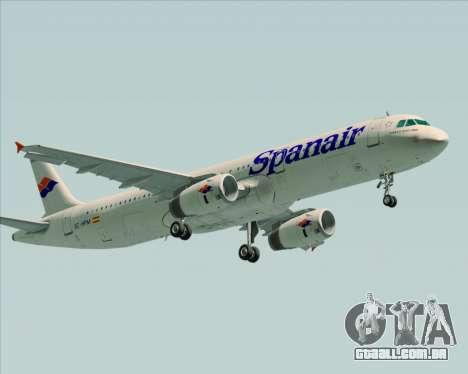 Airbus A321-231 Spanair para vista lateral GTA San Andreas