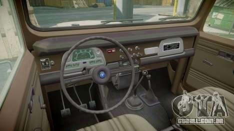 Toyota FJ40 Land Cruiser 1978 v1.7 para GTA 4 vista de volta