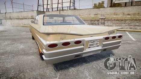 Declasse Voodoo Super Sport para GTA 4 traseira esquerda vista