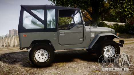 Toyota FJ40 Land Cruiser Soft Top 1978 para GTA 4 esquerda vista