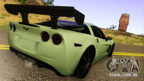 Chevrolet Corvette Z06 2006 Drift Version para GTA San Andreas traseira esquerda vista