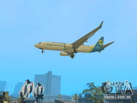 Boeing 737-84R Ukraine International Airlines para GTA San Andreas vista traseira