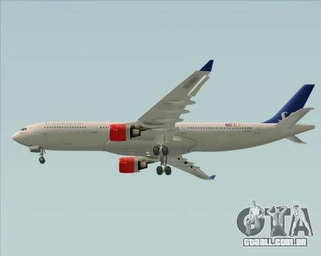 Airbus A330-300 Scandinavian Airlines System. para vista lateral GTA San Andreas