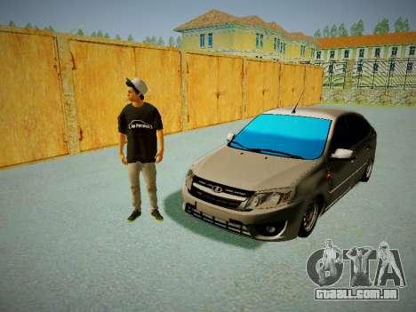 Lada Granta Liftback para GTA San Andreas vista interior