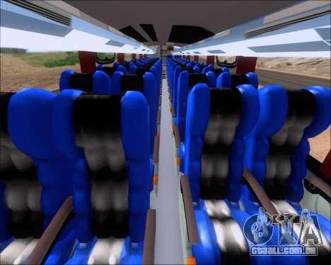 Busscar Vissta Buss LO Faleca para GTA San Andreas vista traseira