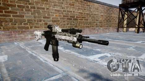 Automatic rifle Colt M4A1 diamante para GTA 4