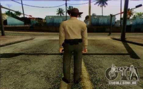 Polícia (GTA 5) Pele 1 para GTA San Andreas segunda tela