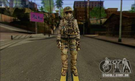 Task Force 141 (CoD: MW 2) Skin 7 para GTA San Andreas