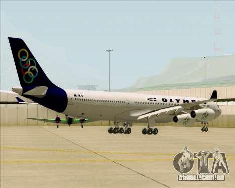Airbus A340-313 Olympic Airlines para GTA San Andreas vista traseira