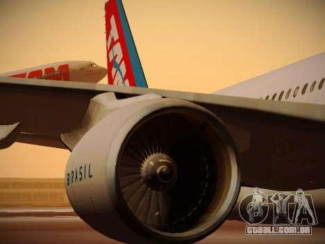 Airbus A330-200 TAM Airlines para as rodas de GTA San Andreas