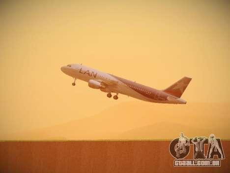 Airbus A320-214 LAN Airlines para GTA San Andreas vista inferior