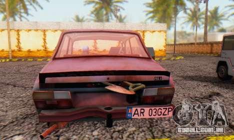 Dacia 1310 MLS Rusty Edition 1988 para GTA San Andreas traseira esquerda vista