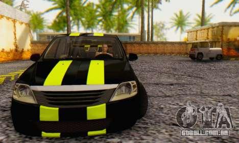 Dacia Logan Black Style para GTA San Andreas esquerda vista