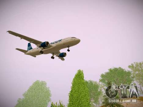 Airbus A320-211 Aigle Azur para GTA San Andreas vista traseira