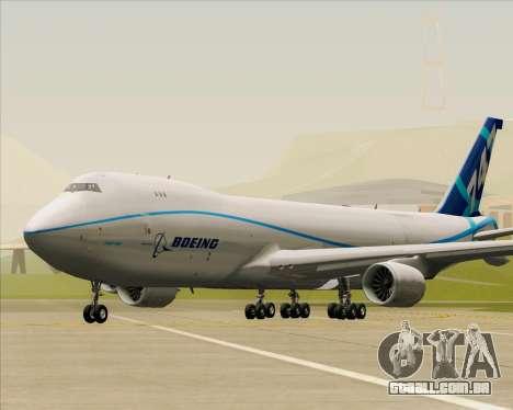 Boeing 747-8 Cargo House Livery para GTA San Andreas esquerda vista